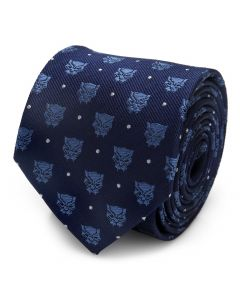Black Panther Blue Dot Tie