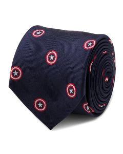 Captain America Navy Tie