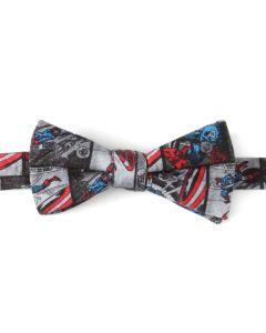 Captain America Comic Grey Men's Bow Tie