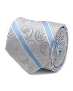 Marvel Comics Grey and Blue Stripe Men's Tie