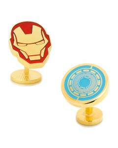 Iron Man Helmet and Arc Reactor Cufflinks