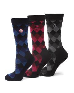 Marvel Argyle Socks 3 Pack Gift Set