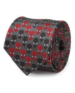 Spider-Man Chevron Red Black Men's Tie