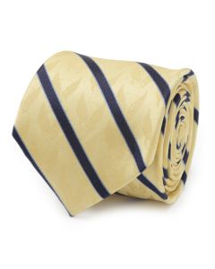 Wolverine Mask Yellow and Navy Silk Men's Tie