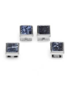 Silver and Sodalite JFK Presidential Studs