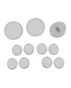 Silver Rope Border Blazer Button Set