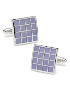 Purple Checker Square Cufflinks