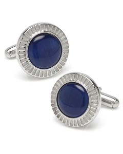 Radiant Blue Catseye Stainless Steel Cufflinks