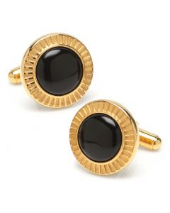 Radiant Onyx Stainless Steel Cufflinks