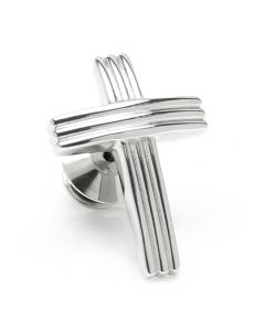 Cross Stainless Steel Lapel Pin