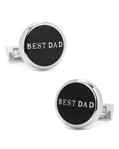 Best Dad Black Stainless Steel Cufflinks