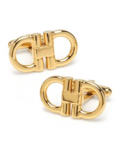 Horse Bit Gold Stainless Steel Cufflinks