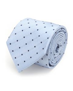 The Hector Tie (Blue Houndstooth Dot Men's Tie)