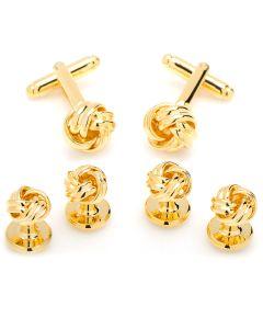 Gold Knot Stud Set