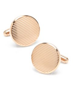 Rose Gold Line Stainless Steel Cufflinks