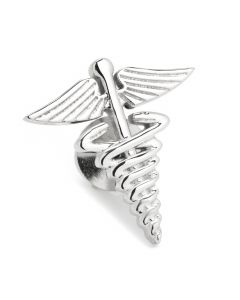 3D Medical Caduceus Lapel Pin