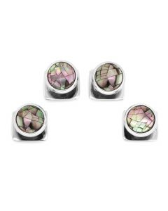 Mosaic Smoke Mother of Pearl Studs