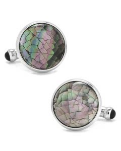 Mosaic Smoke Mother of Pearl Cufflinks