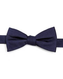 Navy Silk Bow Tie