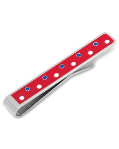 Patriotic Polka Dot Tie Bar