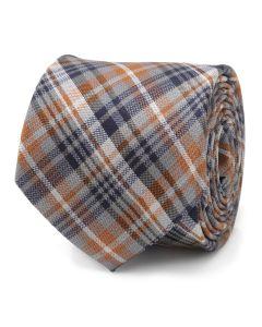 Grey Plaid Men's Tie