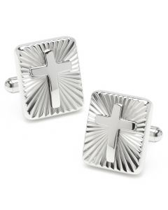 Radiant Cross Stainless Steel Cufflinks