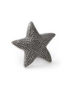 Starfish Black Antiqued Lapel Pin