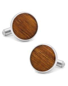 Stainless Steel Wood Cufflinks