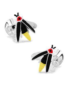 Sterling Silver Firefly Cufflinks