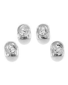 Modern Knot Sterling Silver Studs