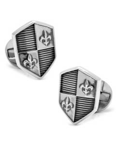 Sterling Silver Shield Cufflinks