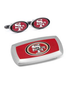 San Francisco 49er's Cufflinks and Cushion Money Clip Set
