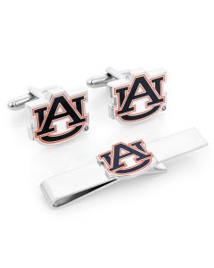 Auburn University Tigers Cufflinks and Tie Bar Gift Set