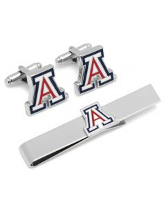 University of Arizona Cufflinks and Tie Bar Gift Set
