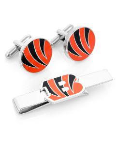 Cincinnati Bengals Cufflinks and Tie Bar Gift Set