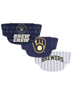 Milwaukee Brewers 3 Pack Face Masks