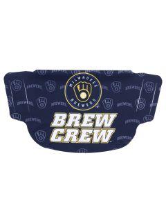Milwaukee Brewers Dot Face Mask