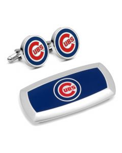 Chicago Cubs Cufflinks and Cushion Money Clip Gift Set