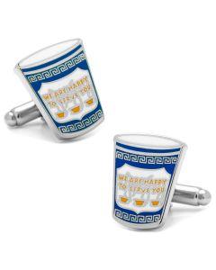 Greek Coffee Cufflinks