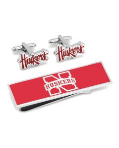 Nebraska Cornhuskers Cufflinks and Money Clip Gift Set