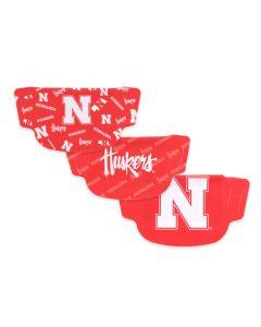 University of Nebraska 3 Pack Face Masks