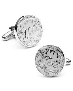 Silver Edition NY Mets Cufflinks