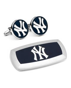 New York Yankees Cufflinks and Cushion Money Clip Gift Set