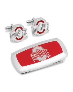 Ohio State University Cufflinks and Cushion Money Clip Set