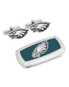 Philadelphia Eagles Cufflinks and Cushion Money Clip Set