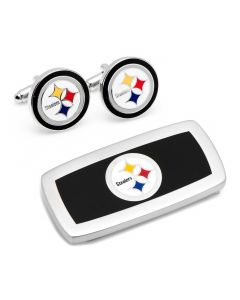 Pittsburgh Steelers Cufflinks and Cushion Money Clip Set