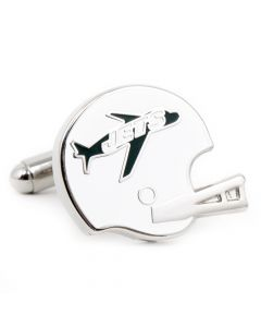 Retro New York Jets Helmet Cufflinks