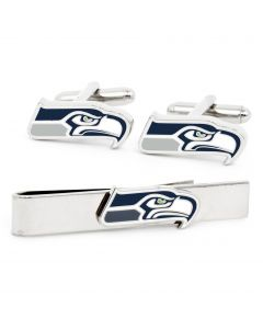 Seattle Seahawks Cufflinks and Tie Bar Gift Set