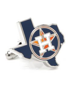 Houston Astros State Shaped Cufflinks