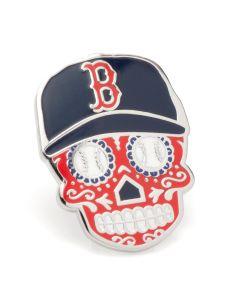 Boston Red Sox Sugar Skull Lapel Pin
